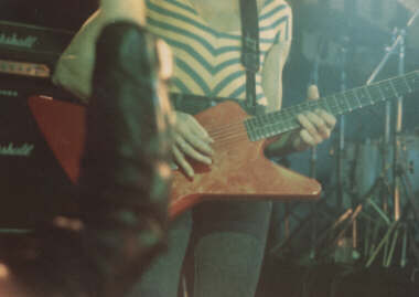 ©1998 Lee Burrows - Tino's First Guitar in use at the Marquee 1982